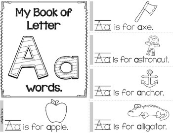 Alphabet Book - Learn Letters and Beginning Sounds