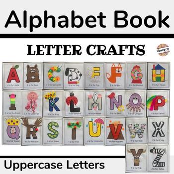 Alphabet Book Letter Crafts for Preschool (Uppercase Letters)