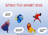 Alphabet Book Letter Match. Disney Inspired. Special Ed. A