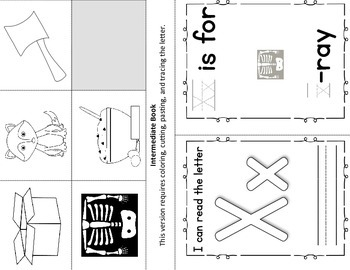 Alphabet Book- Letter X