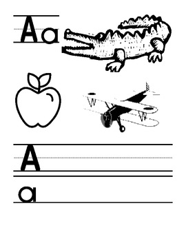 Alphabet Book - Printable Book for Early Elementary