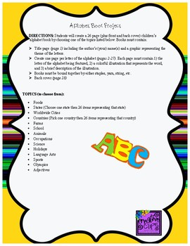 Alphabet Book Project
