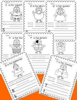 Thanksgiving Turkey Handwriting and Class Book