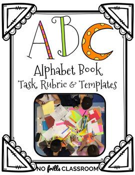 {Free&Editable} ABC Alphabet Book Task Card, Learning Targ
