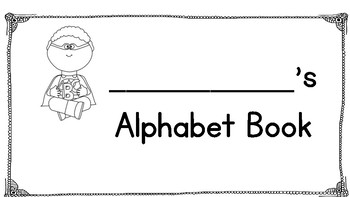 Alphabet Book- Teach letters, Trace Letters, and Read Letters