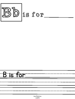 Alphabet Book Templates for Class or Individual Student Books
