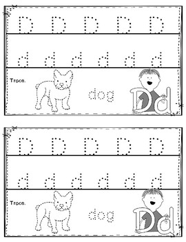 Alphabet Book: The Letter Dd (with shape boxed writing)