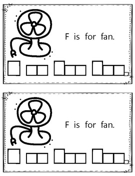 Alphabet Book: The Letter Ff (with shape boxed writing)