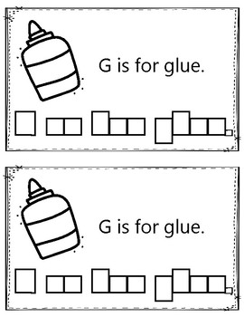 Alphabet Book: The Letter Gg (with shape boxed writing)