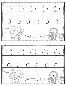 Alphabet Book: The Letter Oo (with shape boxed writing)