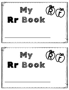 Alphabet Book: The Letter Rr (with shape boxed writing)