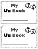 Alphabet Book: The Letter Uu (with shape boxed writing)