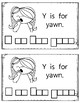 Alphabet Book: The Letter Yy (with shape boxed writing)