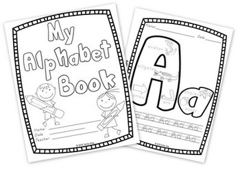 Alphabet Book:  Write and Color (Copywork A-Z)