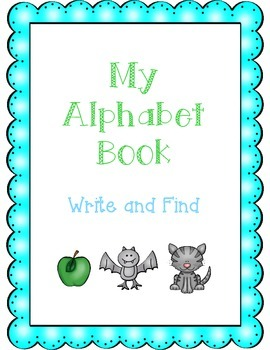 Alphabet Book - Write and Find