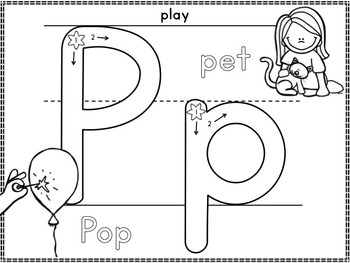 Alphabet Play Dough Mats: Correct Formation and Beginning Sounds