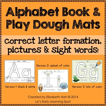Alphabet Book and Play Dough Mats - correct formation, pic