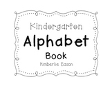Alphabet Book for Kindergarten and First Grade