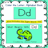 "Alphabet Book for Letter D: ""Color the Letter"" Alphabet Book - Sight Word THE!"