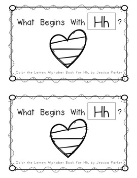 """Alphabet Book for Letter H: """"Color the Letter"""" Alphabet Book - Sight Word THE!"""