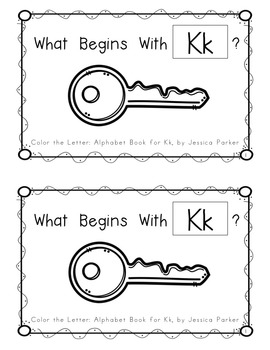 """Alphabet Book for Letter K: """"Color the Letter"""" Alphabet Book - Sight Word A!"""