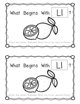 """Alphabet Book for Letter L: """"Color the Letter"""" Alphabet Book - Sight Word THE!"""