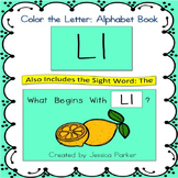 "Alphabet Book for Letter L: ""Color the Letter"" Alphabet Book - Sight Word THE!"