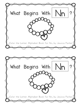 "Alphabet Book for Letter N: ""Color the Letter"" Alphabet Book - Sight Words, Too!"