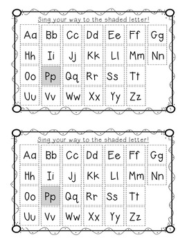 """Alphabet Book for Letter P: """"Color the Letter"""" Alphabet Book - Sight Words, Too!"""
