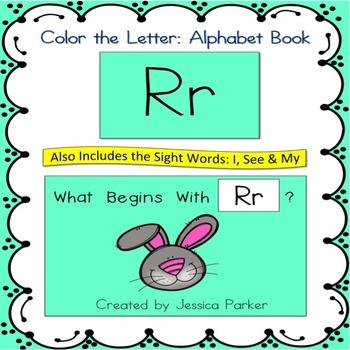 Alphabet Book for Letter R: Teach Kindergarten Foundationa