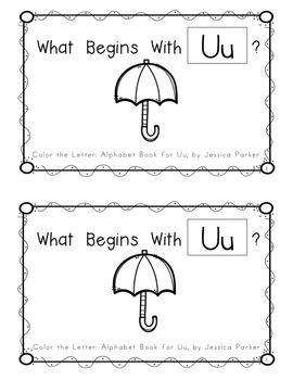 "Alphabet Book for Letter U: ""Color the Letter"" Alphabet Book - Sight Words, Too!"