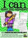 Alphabet Book for PreK and Kindergarten! A - Z handwriting!