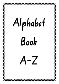 Alphabet Booklet A-Z Handwriting
