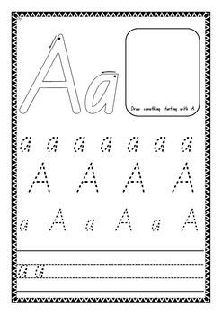 Alphabet Booklet A-Z Handwriting