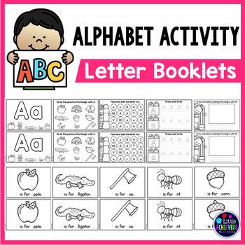 image regarding Alphabet Booklets Printable identified as Alphabet Guides Printable -alphabet worksheets a-z alphabet letter teach