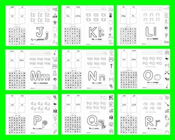Alphabet Booklets Interactive Foldable SET 3 Sound & Letter Practice 26 Booklets
