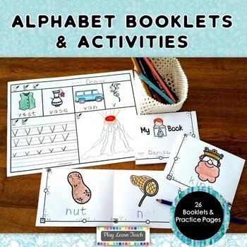 Alphabet Booklets & Practice Activities - NO PREP