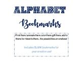 Alphabet Bookmarks + BLANK Template