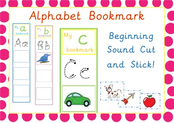 Alphabet Bookmarks Cut and Stick Activity