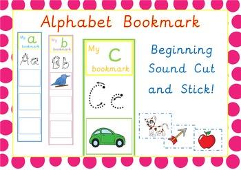 Alphabet Bookmarks Cut and Stick Activity