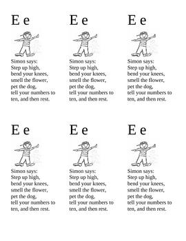 Alphabet Bookmarks E - I