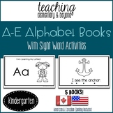 Alphabet Books: Letters A to E and Activities