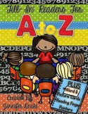 Alphabet Books ~Fill In Readers~  PLUS Word & Picture Cards & Reading Fingers