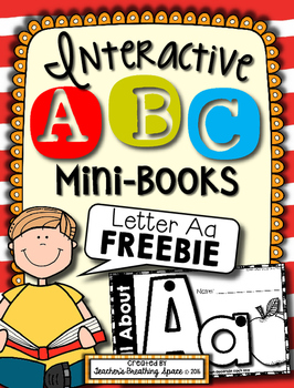 Alphabet Books --- Letter Aa Interactive ABC Mini-Book *FREEBIE*