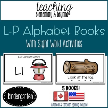 Alphabet Books Books L to P and Activities