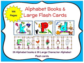 Alphabet Books, Large Flash Cards, Vocabulary Cards,