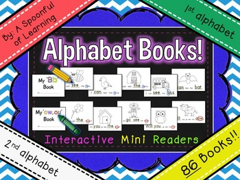 Alphabet Books (1st & 2nd Alphabet Interactive Mini Readers)