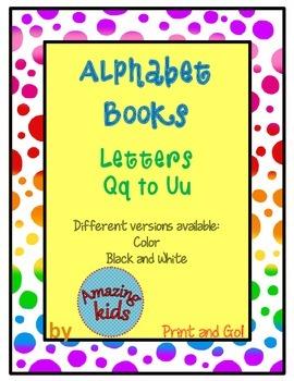 Alphabet Books Qq to Uu