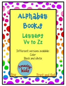 Alphabet Books Vv to Zz