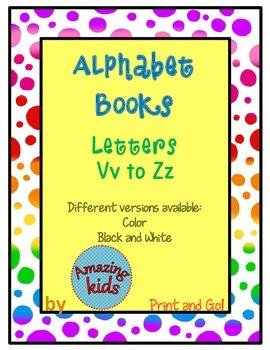 Alphabet Books Vv to Zz
